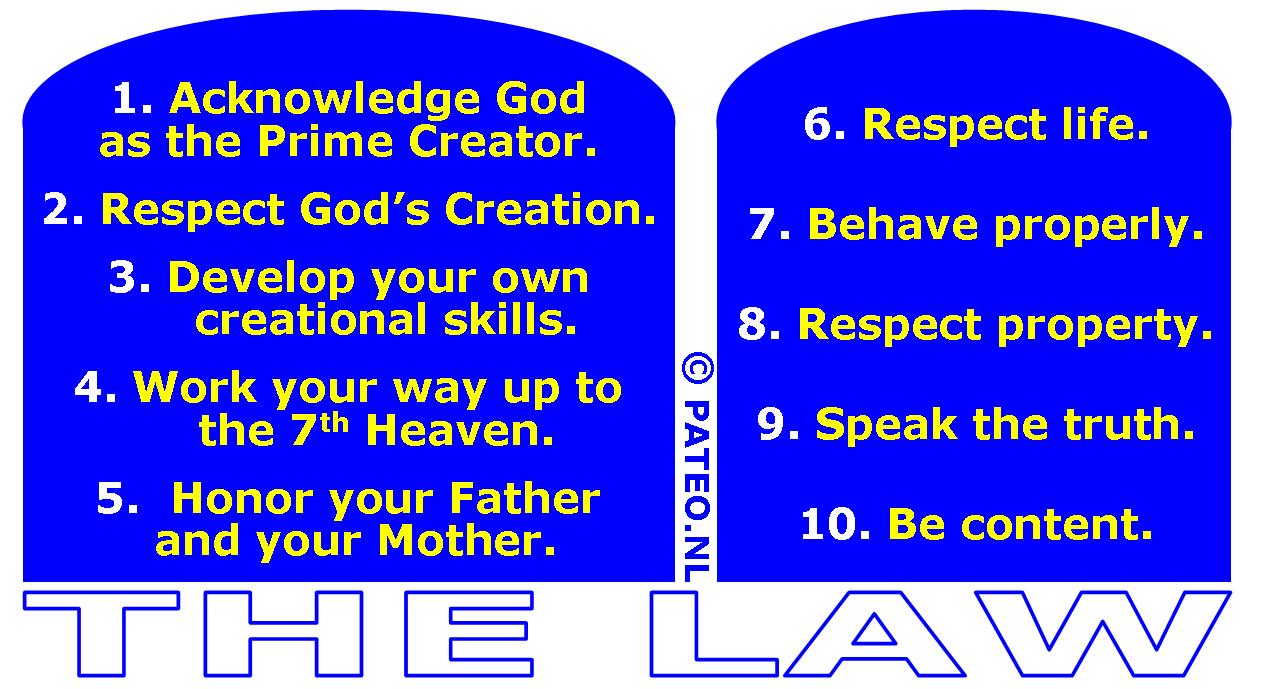 the original ten commandments